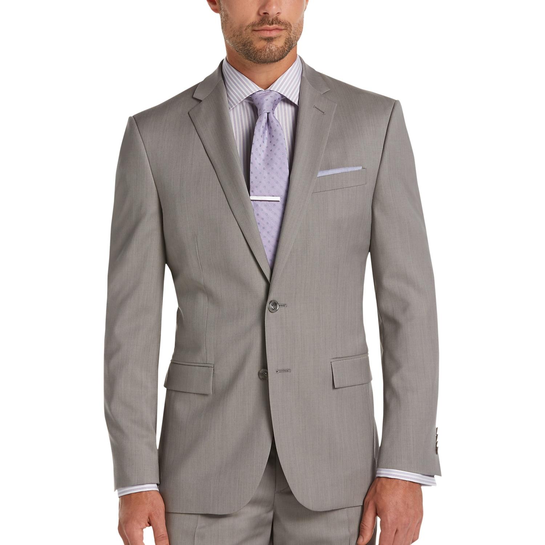 JOE Joseph Abboud Gray Slim Fit Survival Suit - Men's Slim Fit ...