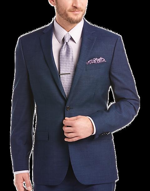 7515e567 JOE Joseph Abboud Blue Stripe Slim Fit Survival Suit