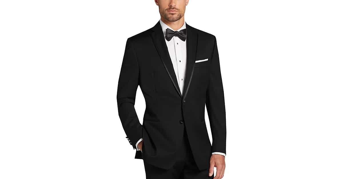 Calvin klein black modern fit tuxedo men 39 s tuxedos men for Tuxedo house
