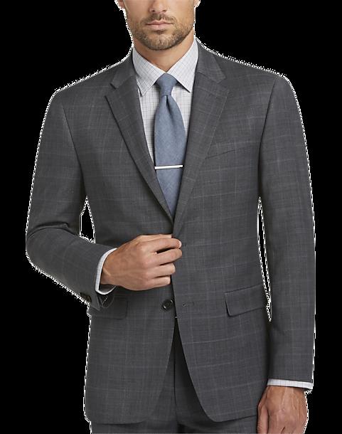 Gray Plaid Suit - Men's Suits - Tommy Hilfiger | Men's Wearhouse