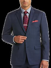 Mens Blue Plaid Suit | Mens Wearhouse
