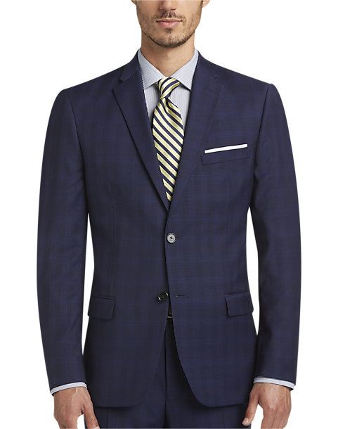 Tommy Hilfiger Navy Plaid Slim Fit Suit - Men's Slim Fit | Men's ...