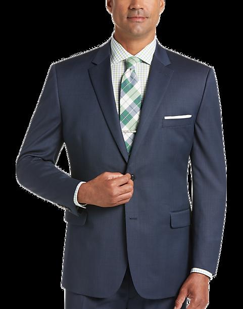 Pronto Uomo Blue Modern Fit Suit - Men's Modern Fit   Men's Wearhouse