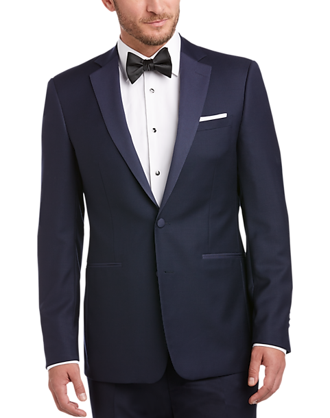 Navy Blue Extreme Slim Fit Tuxedo Men S Tuxedos Calvin
