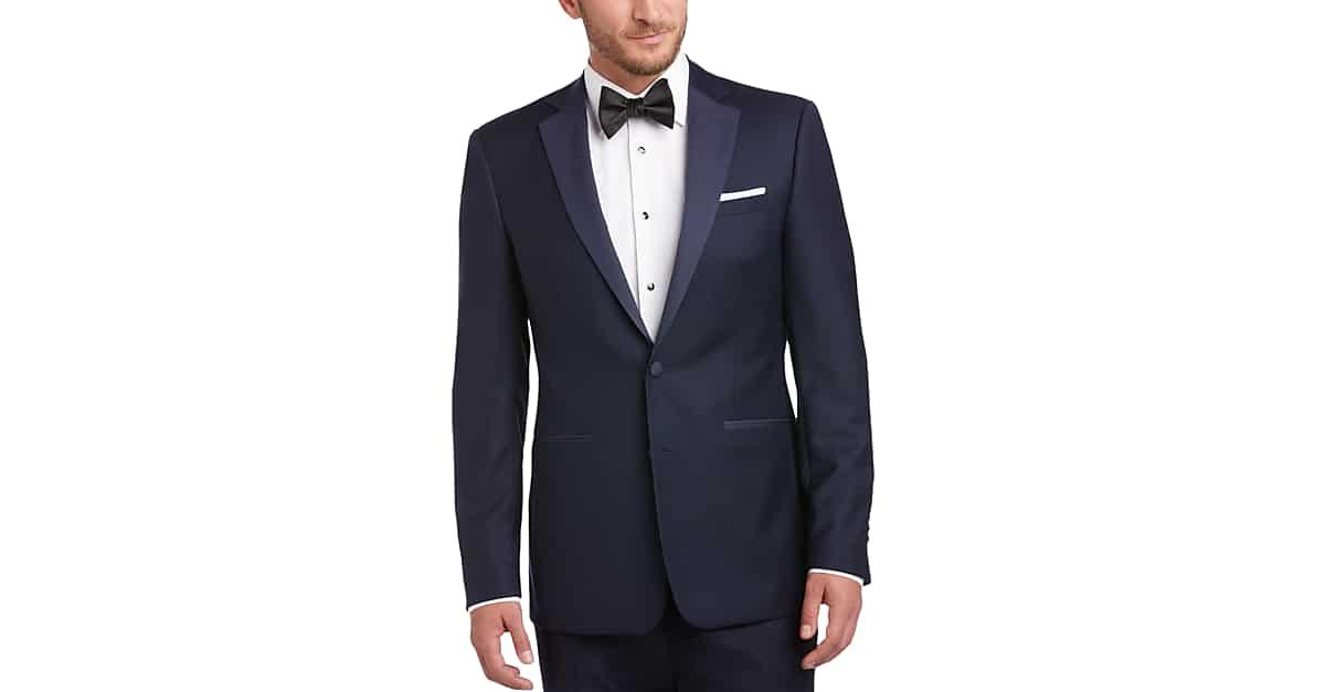 998cb6505a Navy Blue Extreme Slim Fit Tuxedo - Men's Tuxedos - Calvin Klein | Men's  Wearhouse
