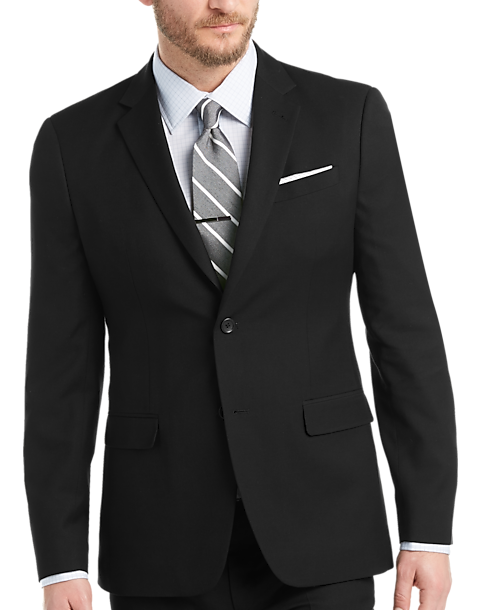 Egara Black Extreme Slim Fit Suit - Men's Extreme Slim Fit | Men's ...
