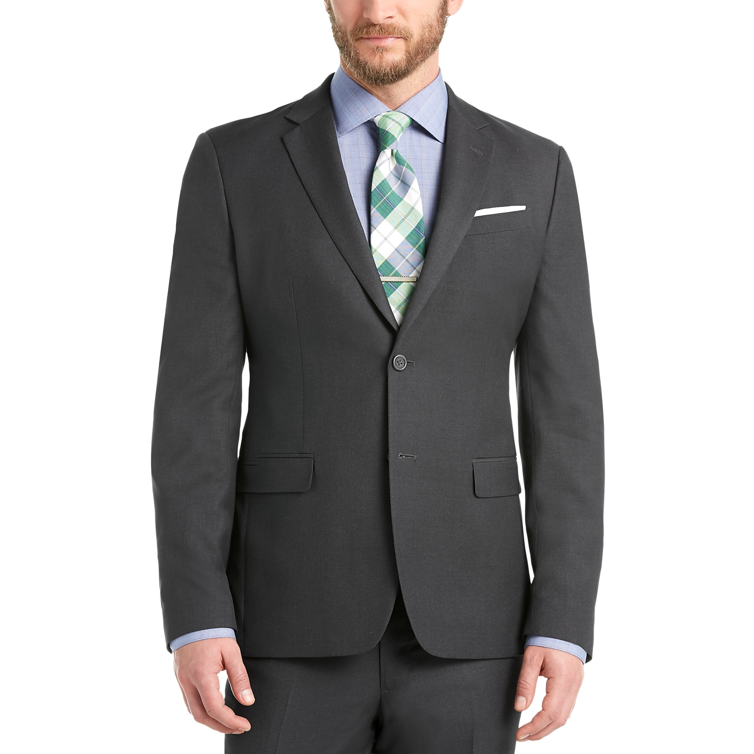 Egara Charcoal Gray Extreme Slim Fit Suit - Men's Extreme Slim Fit ...