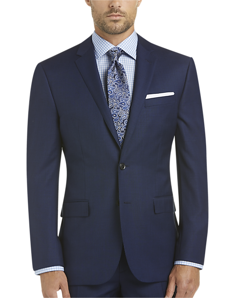 752353a7cc6 100% Wool Blue Slim Fit Suit - Men s Suits - JOE by Joseph Abboud ...