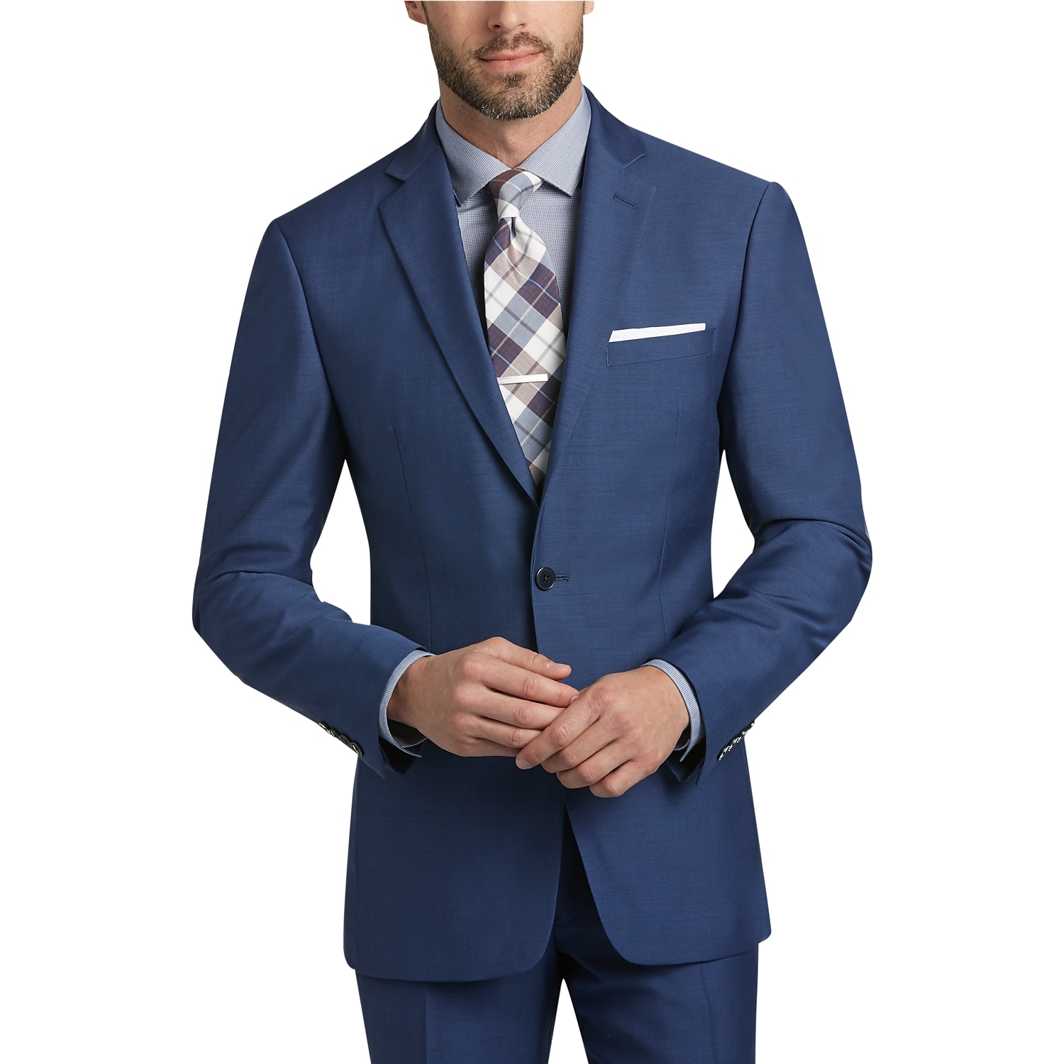 Mens Modern Fit, Suits - Calvin Klein Blue Postman Slim Fit Suit - Men s  Wearhouse d5e2eda148