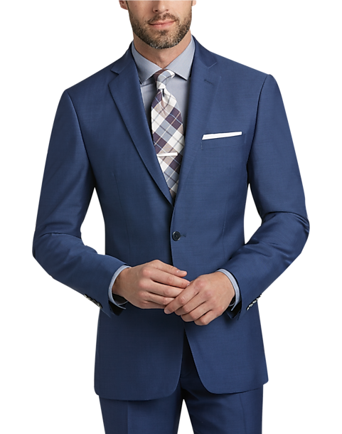Calvin Klein X-Fit Blue Postman Slim Fit Suit