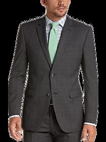 bf40b1758 Mens Clearance - Perry Ellis Portfolio Charcoal Windowpane Slim Fit Suit -  Men's Wearhouse