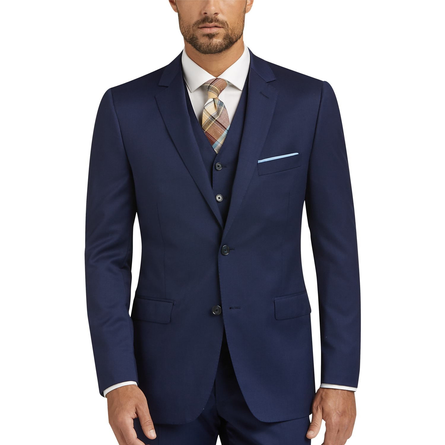 Men's 3 Piece Vested Suits, Suits with Vests | Men's Wearhouse