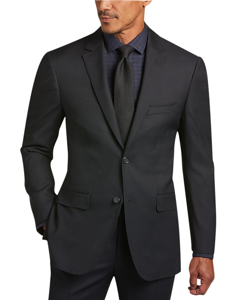 Awearness Kenneth Cole Black Tonal Stripe Slim Fit Suit - Men's ...