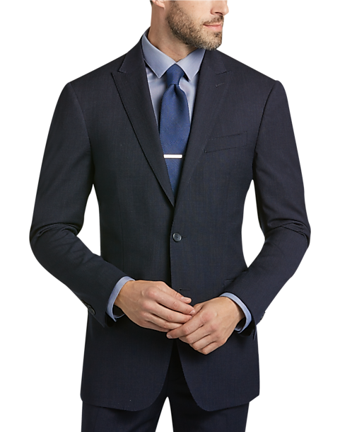 Awearness Kenneth Cole Navy Tic Slim Fit Suit - Men's Slim Fit ...