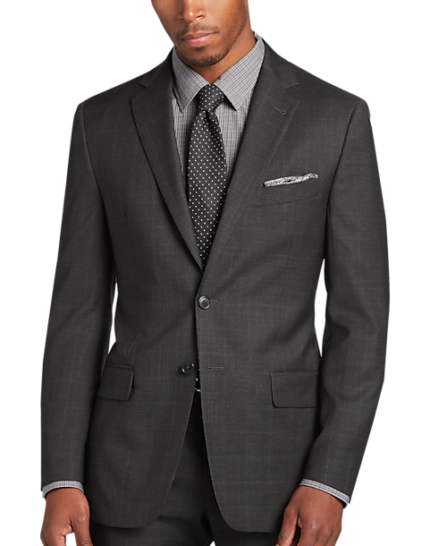 Kenneth Cole New York Mens Travel Ready Wool 32 Finished Bottom Hem Suit