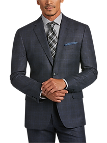 Mens Blue Plaid Suit | Mens Wearhouse