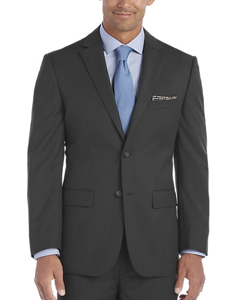 Awearness Kenneth Cole Charcoal Gray Slim Fit Suit - Men's Slim ...