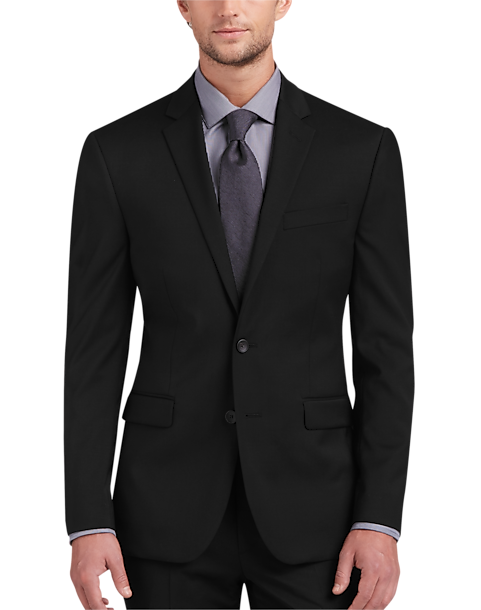 fbd125b47a Awearness Kenneth Cole AWEAR-TECH Black Extreme Slim Fit Suit Separates Coat