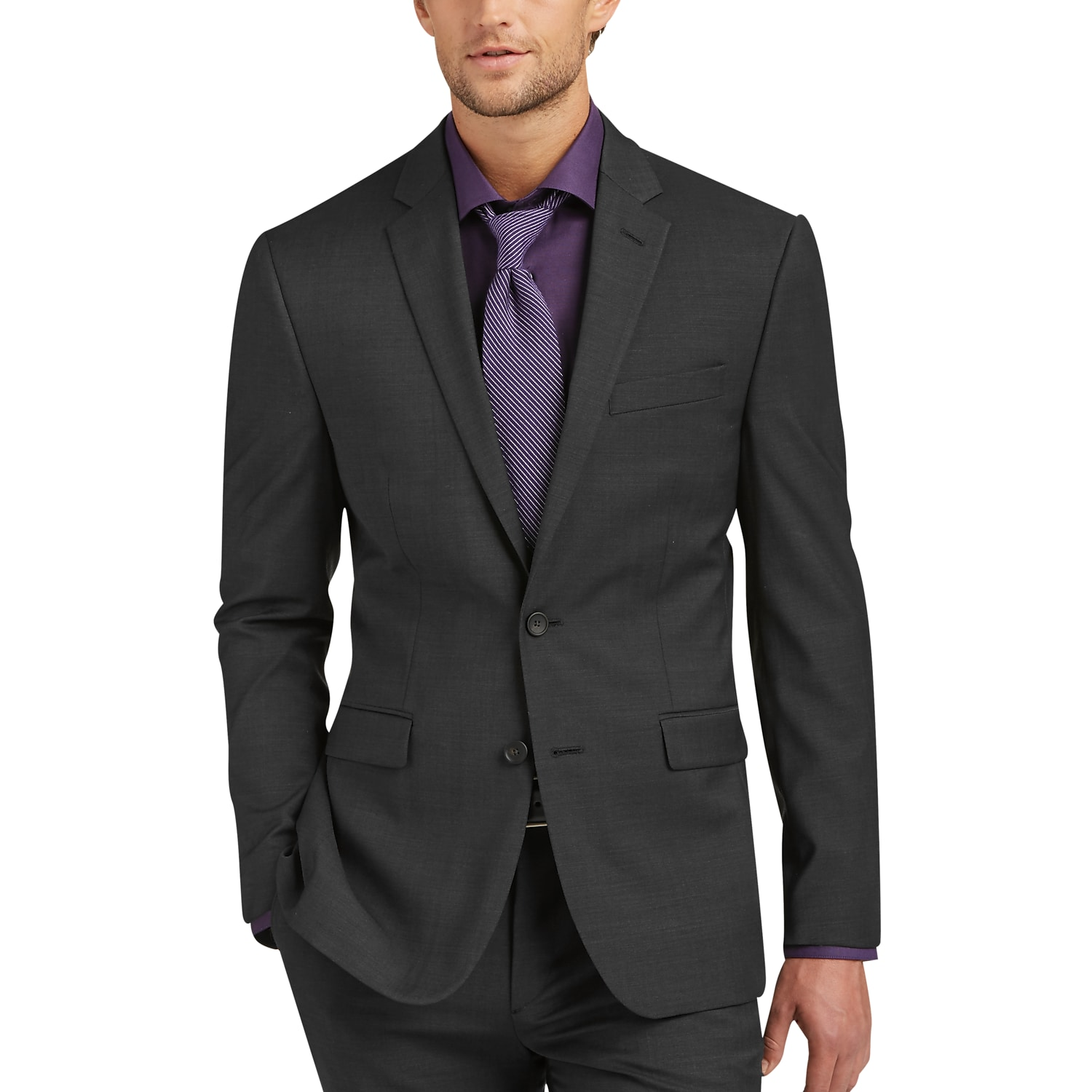 Awearness Kenneth Cole AWEAR-TECH Charcoal Extreme Slim Fit Suit Separates  Coat 25b789dc2