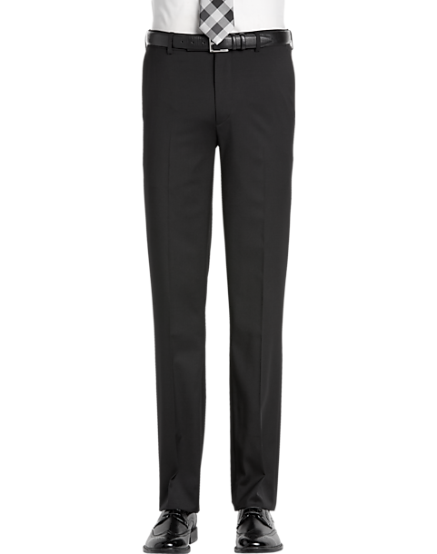 7c612e721f63 Awearness Kenneth Cole AWEAR-TECH Black Extreme Slim Fit Suit ...