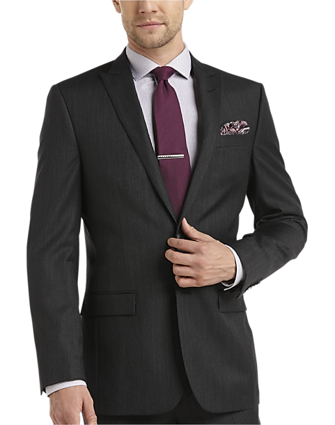 Slim Fit Charcoal Suit - Suit La