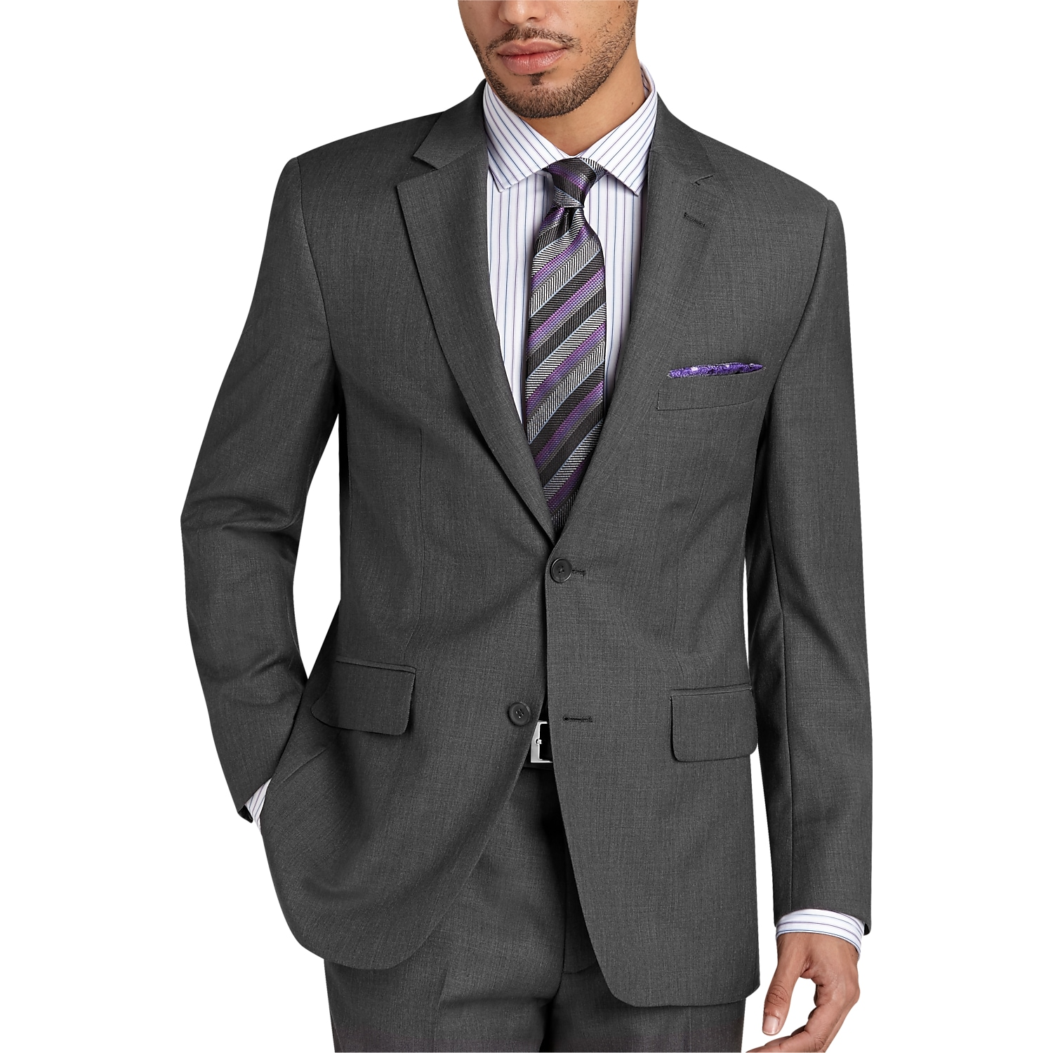 Gray Modern Fit Suit - Men's Suits - Pronto Uomo | Men's Wearhouse