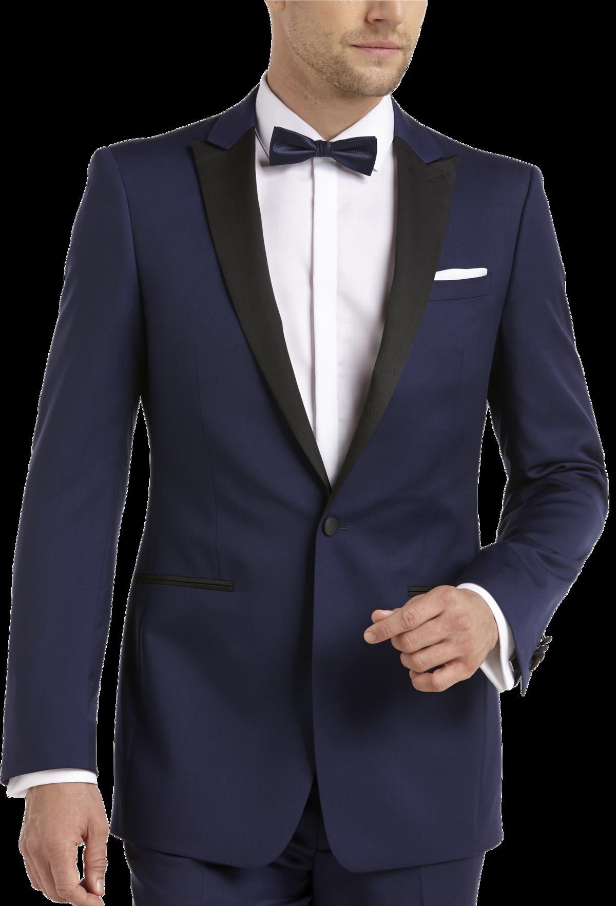 blue amp black extreme slim fit tuxedo mens tuxedos