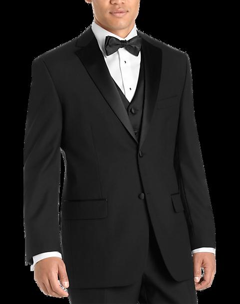 Black Modern Fit Tuxedo - Men\'s Tuxedos - Wilke Rodriguez | Men\'s ...