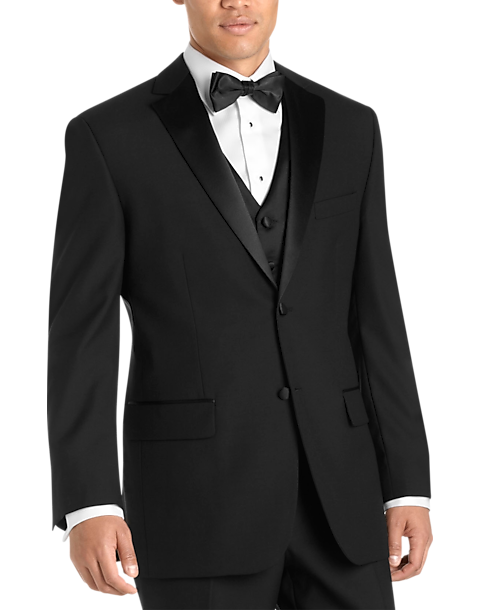 6db146d840610 Black Modern Fit Tuxedo - Men's Tuxedos - Wilke Rodriguez   Men's Wearhouse