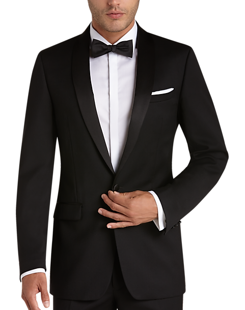 41bd5318382ba Black Slim Fit Tuxedo - Men's Tuxedos - Calvin Klein | Men's Wearhouse