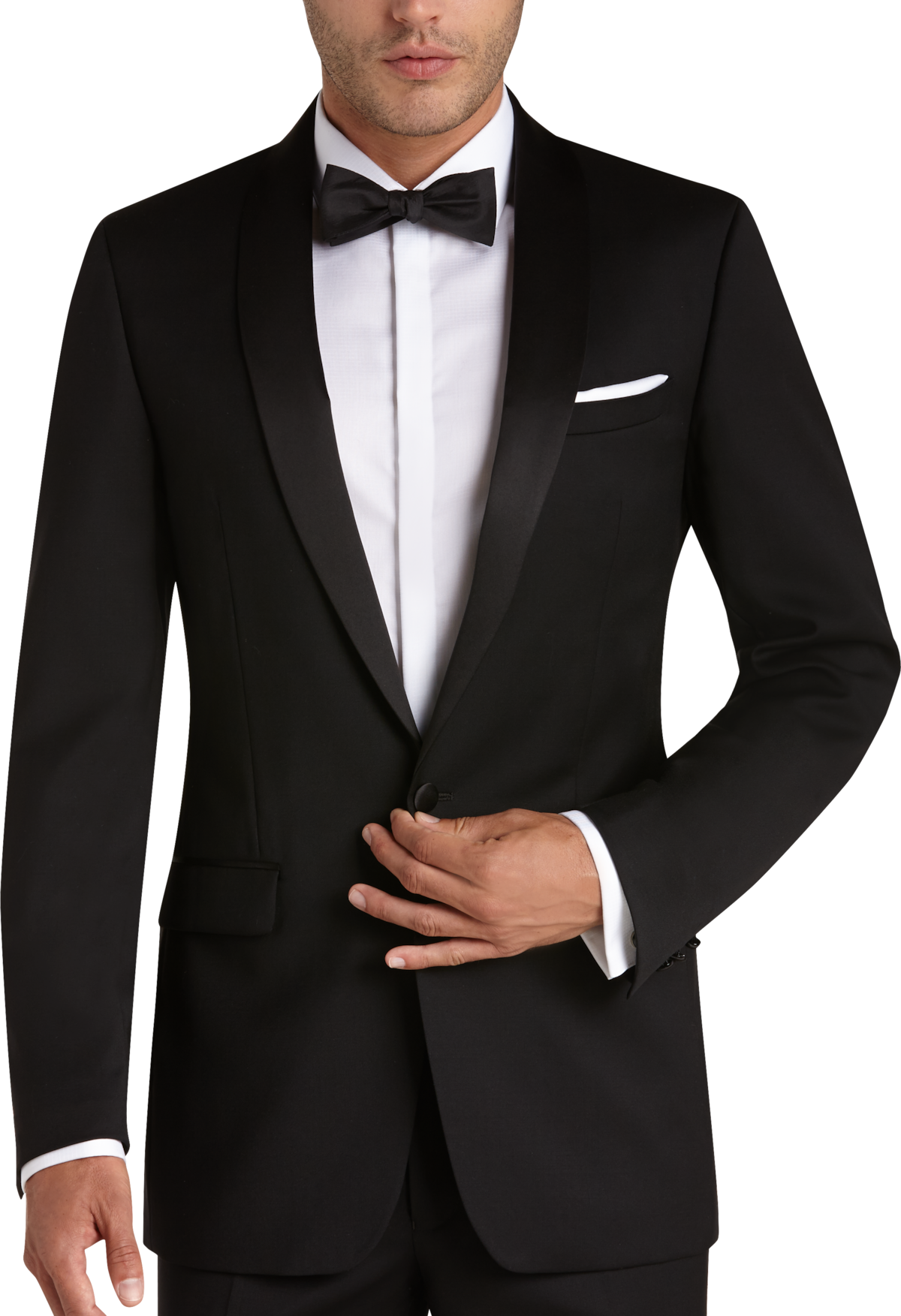 Black Slim Fit Tuxedo Men S Tuxedos Calvin Klein Men