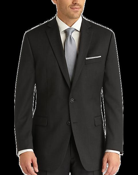 d7689dd1d6f06 Charcoal Gray Slim Fit Suit - Men s Suits - Calvin Klein