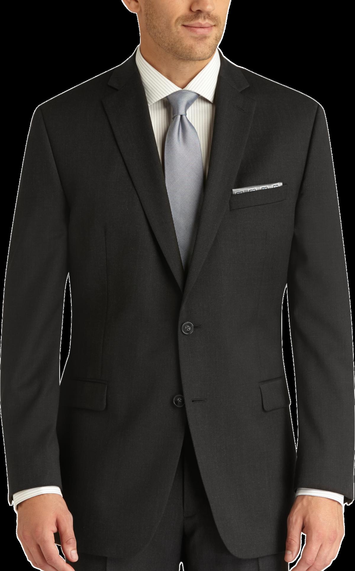 Charcoal Gray Slim Fit Suit - Men's Suits - Calvin Klein | Men's ...