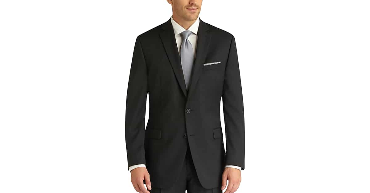 Charcoal Gray Slim Fit Suit - Men's Suits - Calvin Klein | Men's ...