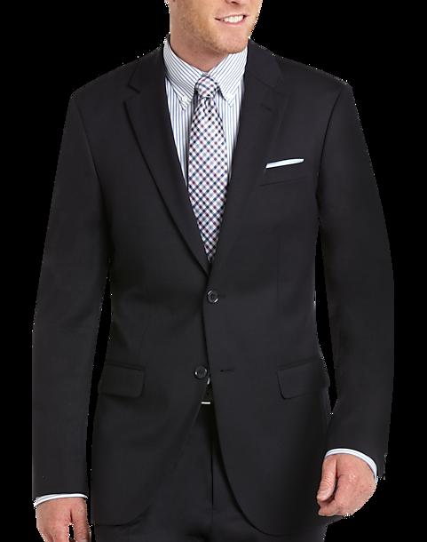100% Wool Navy Slim Fit Suit - Men's Suits - Tommy Hilfiger ...