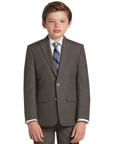 5ab12a8cd Joseph   Feiss Boys Gray Check Suit Separates Coat - Men s