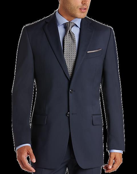 Joseph Abboud Blue Modern Fit Suit Separates Coat Mens Suit