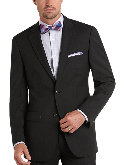Pronto Uomo Charcoal Gray Modern Fit Suit bb0b6583fc2
