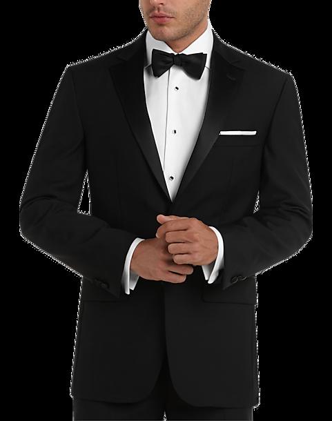 Pronto Uomo Black Modern Fit Tuxedo - Men s Tuxedos  8ea1f52a239c