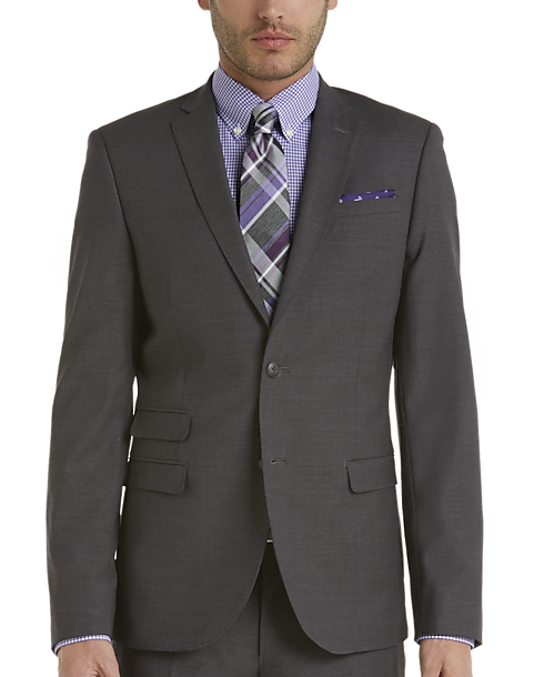 Egara Medium Gray Extreme Slim Fit Suit