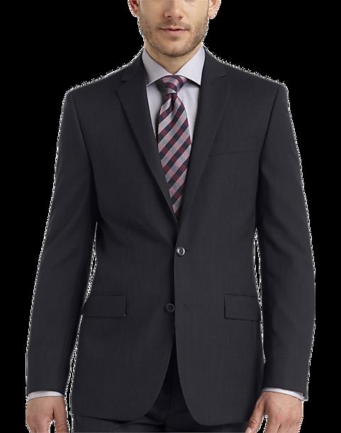 Egara Navy Stripe Slim Fit Suit - Men's Slim Fit | Men's Wearhouse