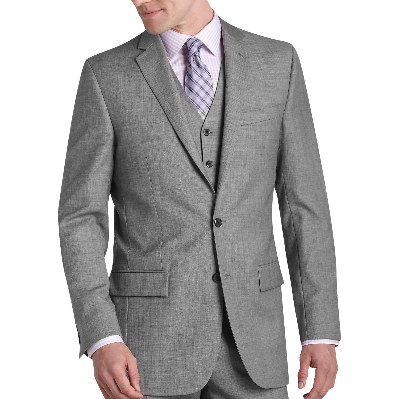 Egara Gray Sharkskin Slim Fit Suit Separates Coat - Men's Suit ...