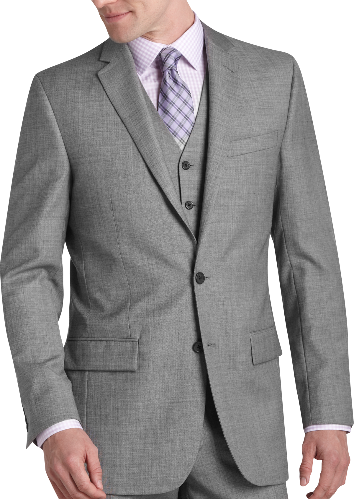 Egara Gray Sharkskin Slim Fit Suit Separates Coat Men S Suits