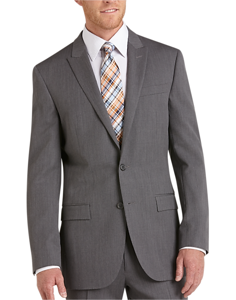 Egara Medium Gray Slim Fit Suit Separates Coat - Men's Suit ...