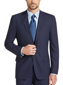 b2947fc469a Mens Clearance - Joseph Abboud Blue Plaid Slim Fit Suit - Men s Wearhouse