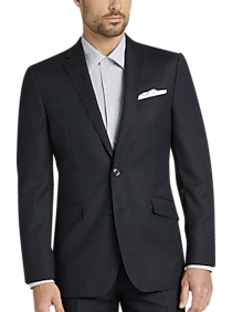 c5acd09e Mens Suits, Clearance - JOE Joseph Abboud Navy Heathered Slim Fit Suit -  Men's Wearhouse