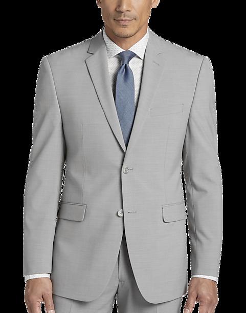 b1bab33ffe11 Perry Ellis Portfolio Light Gray Slim Fit Suit - Men's Suits | Men's ...