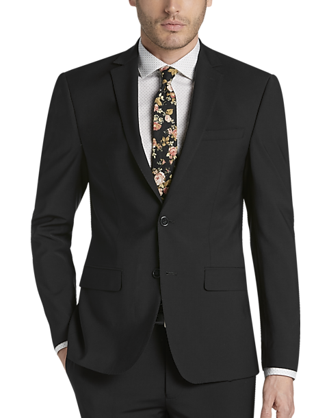 bd363056ddd178 Calvin Klein Infinite Stretch Black Extreme Slim Fit Suit - Men's ...