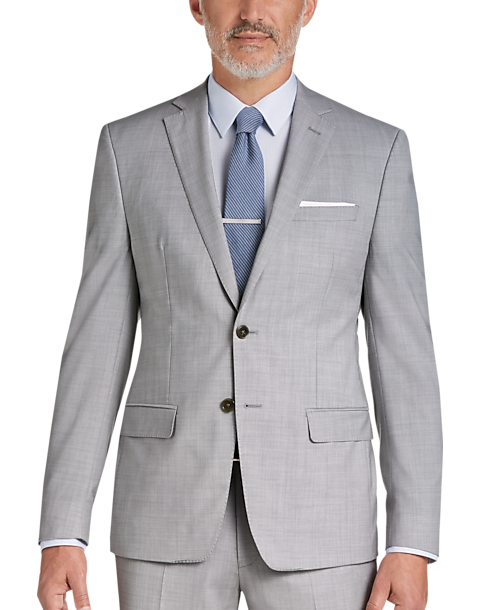 0eaf52e2779 Calvin Klein Infinite Stretch Light Gray Extreme Slim Fit Suit ...