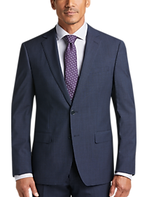 Mens Suits - Calvin Klein Infinite Navy Check Extreme Slim Fit Suit - Men s  Wearhouse c91c7a5d9326